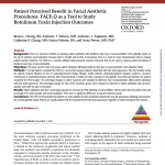 Patient Perceived Benefit in Facial Aesthetic Procedures